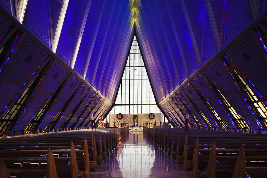 U.s. Air Force Academy, Cadets Chapel Photograph by Walter Bibikow