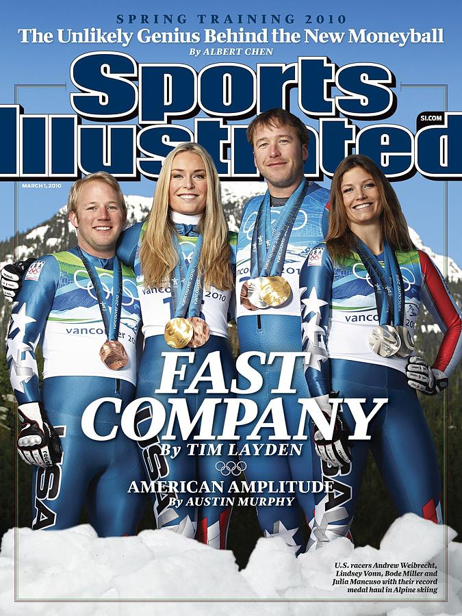 Us Alpine Skiing Medalists, 2010 Winter Olympics Sports Illustrated Cover Photograph by Sports Illustrated