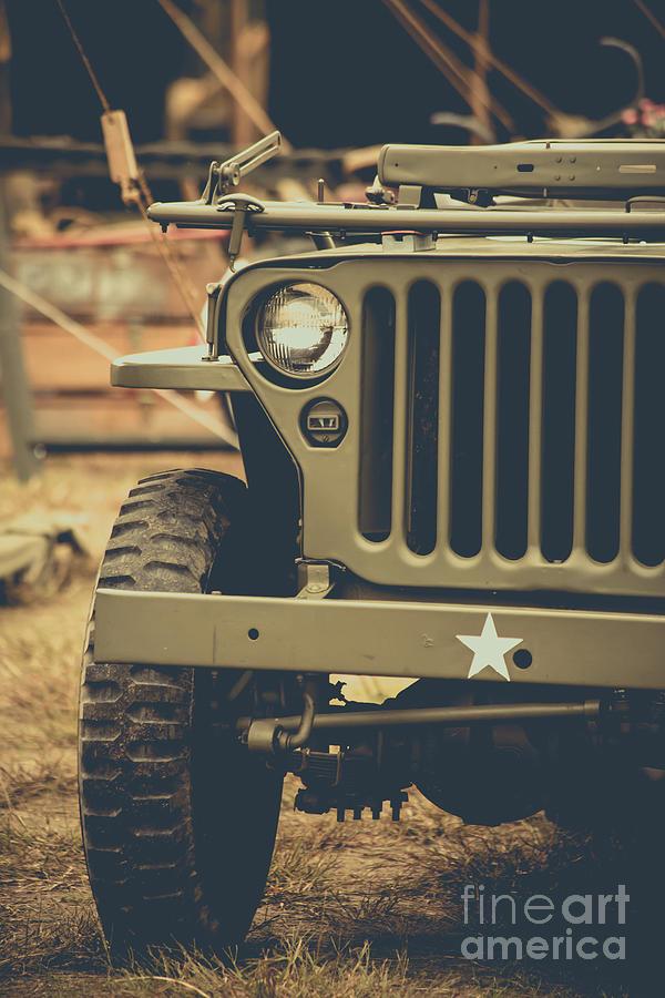 World War Ii Photograph - Us Army Jeep World War II by Edward Fielding
