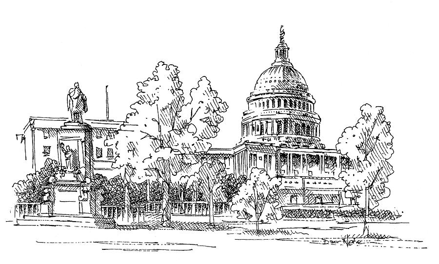 Us Capitol Drawing