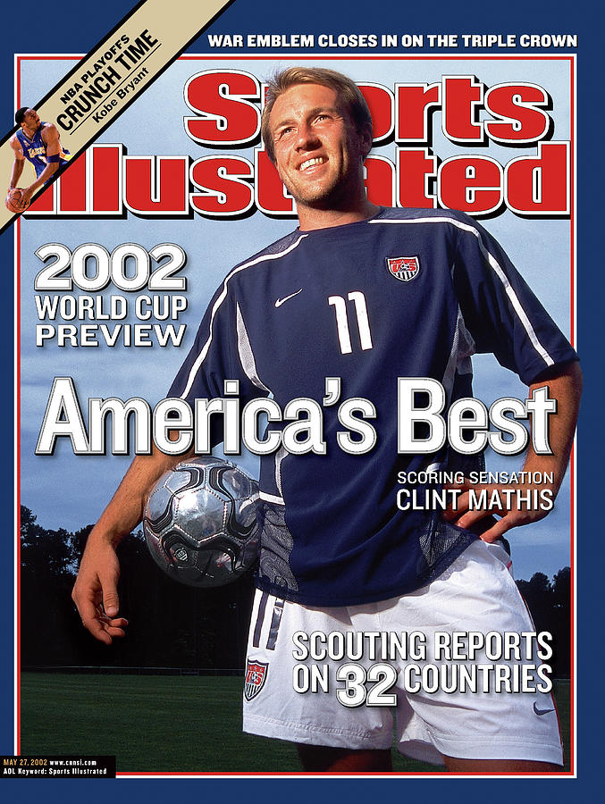 Us Mens National Soccer Team Clint Mathis, 2002 Fifa World Sports Illustrated Cover Photograph by Sports Illustrated