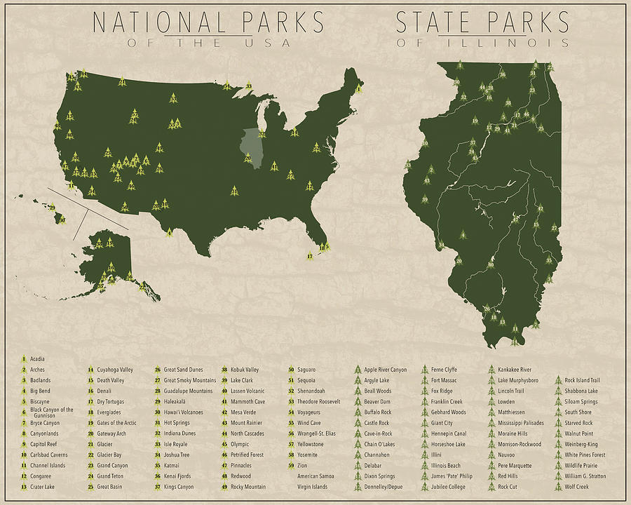 Us National Parks - Illinois on illinois county indiana, illinois natural resources map, chicago illinois map of indiana, illinois county map world atlas, illinois physical map, clifty falls state park indiana,