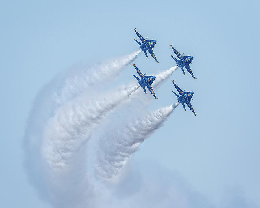 US Navy Blue Angels by Wes and Dotty Weber