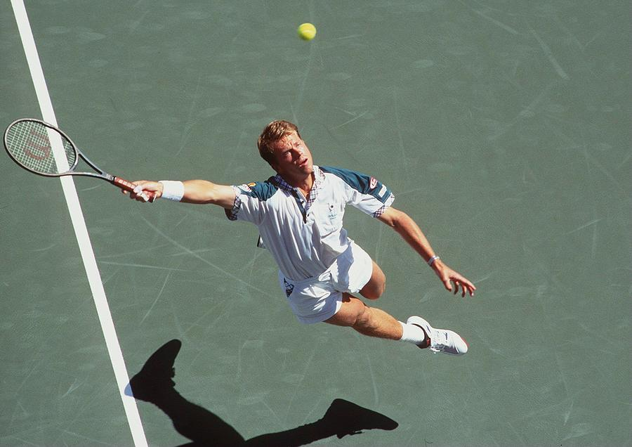 Tennis Photograph - Us Open Edberg by Clive Brunskill