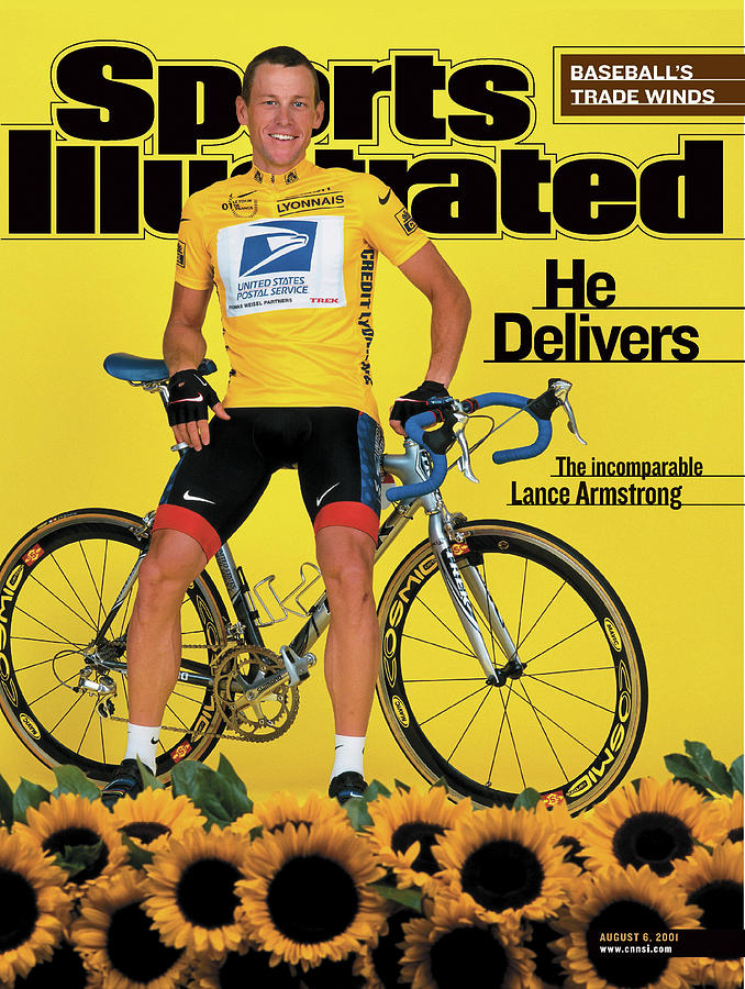 Us Postal Service Lance Armstrong, 2001 Tour De France Sports Illustrated Cover Photograph by Sports Illustrated