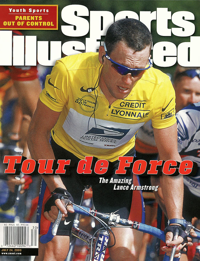 Us Postal Service Team Lance Armstrong, 2000 Tour De France Sports Illustrated Cover Photograph by Sports Illustrated