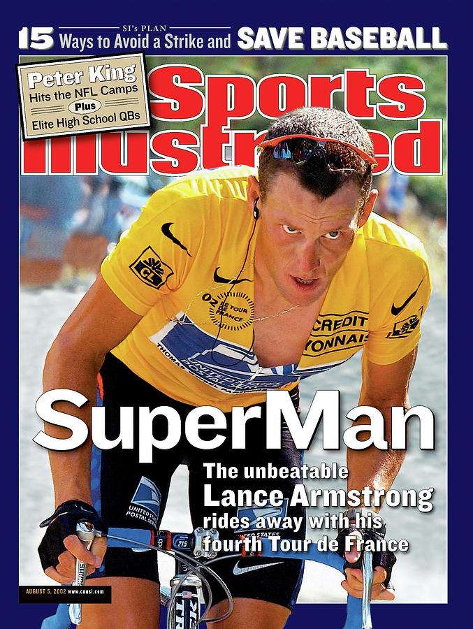 Us Postal Service Team Lance Armstrong, 2002 Tour De France Sports Illustrated Cover Photograph by Sports Illustrated