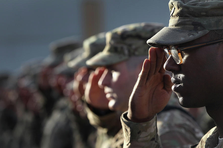 U.s. Soldiers Commemorate 911 Photograph by John Moore