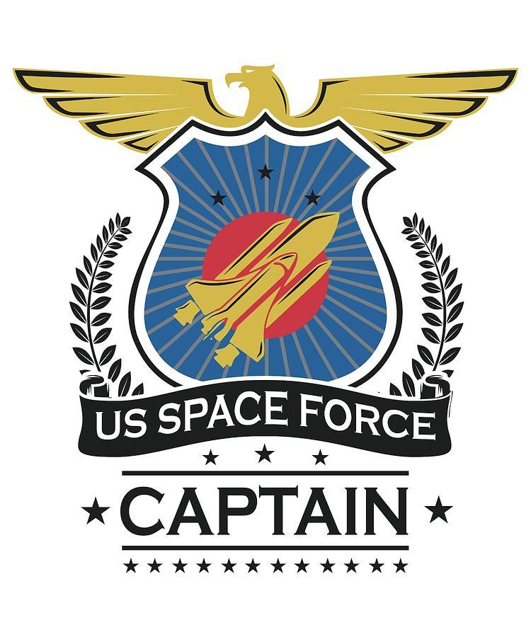 Nasa Digital Art - Us Space Force Crew Member Art For Spaceship Captain Light by Nikita Goel