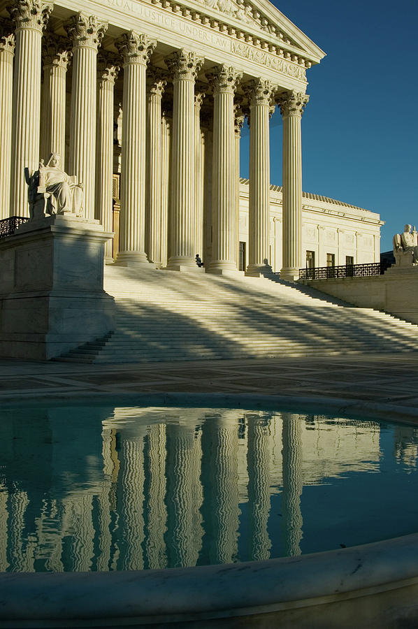 Us Supreme Court Reflection In Pool Photograph by Dhuss