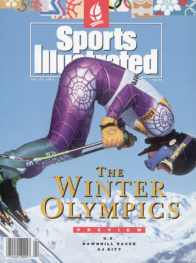 Usa A.j. Kitt, 1992 Albertville Olympic Games Preview Issue Sports Illustrated Cover Photograph by Sports Illustrated