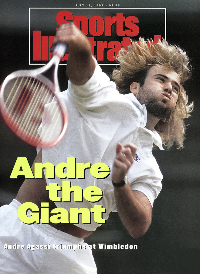 Usa Andre Agassi, 1992 Wimbledon Sports Illustrated Cover Photograph by Sports Illustrated