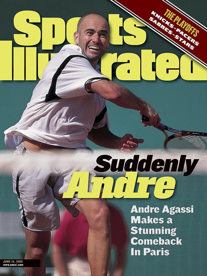Usa Andre Agassi, 1999 French Open Sports Illustrated Cover Photograph by Sports Illustrated