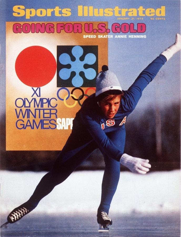 Usa Anne Henning, 1972 Sapporo Olympic Games Preview Sports Illustrated Cover Photograph by Sports Illustrated