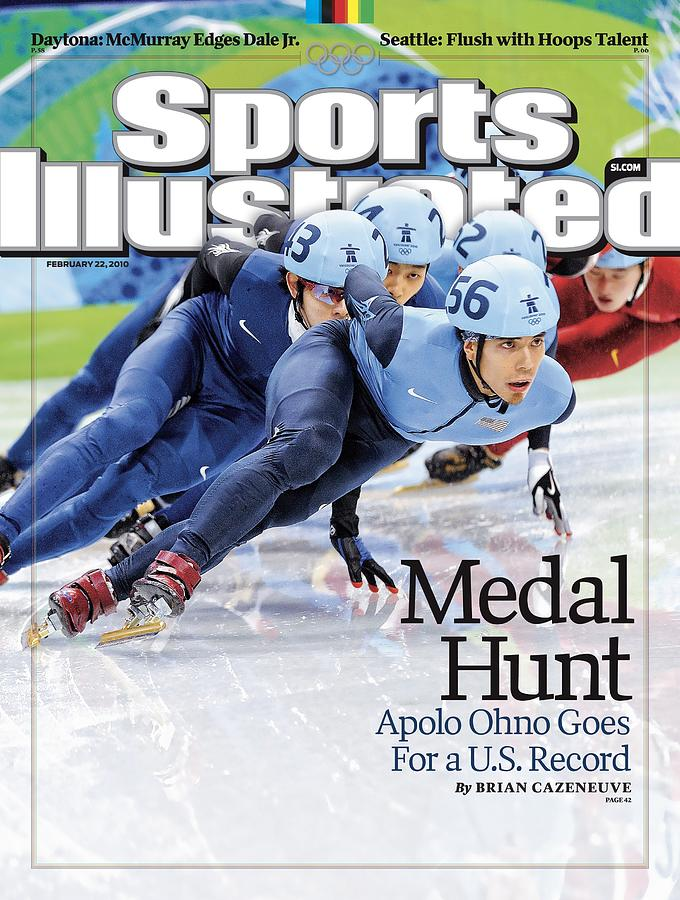 Usa Apolo Anton Ohno, 2010 Winter Olympics Sports Illustrated Cover Photograph by Sports Illustrated