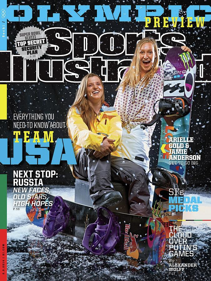 Usa Arielle Gold And Jamie Anderson, 2014 Sochi Olympic Sports Illustrated Cover Photograph by Sports Illustrated