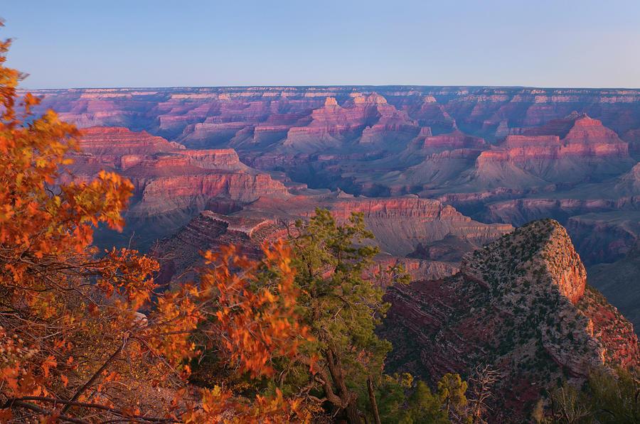 Usa, Arizona, Grand Canyon At Sunrise Photograph by Gary Weathers