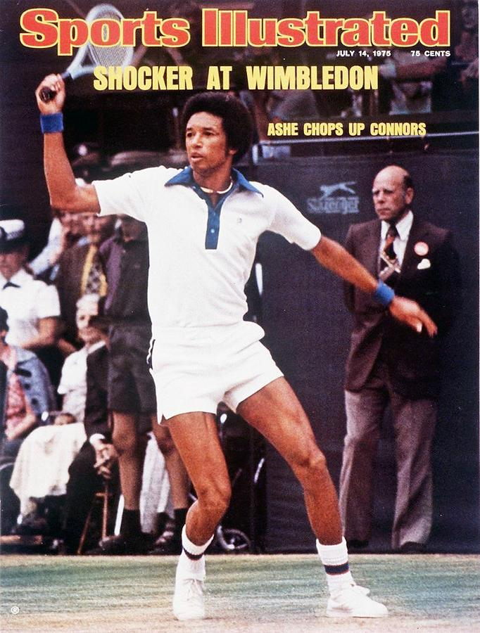 Usa Arthur Ashe, 1975 Wimbledon Sports Illustrated Cover Photograph by Sports Illustrated