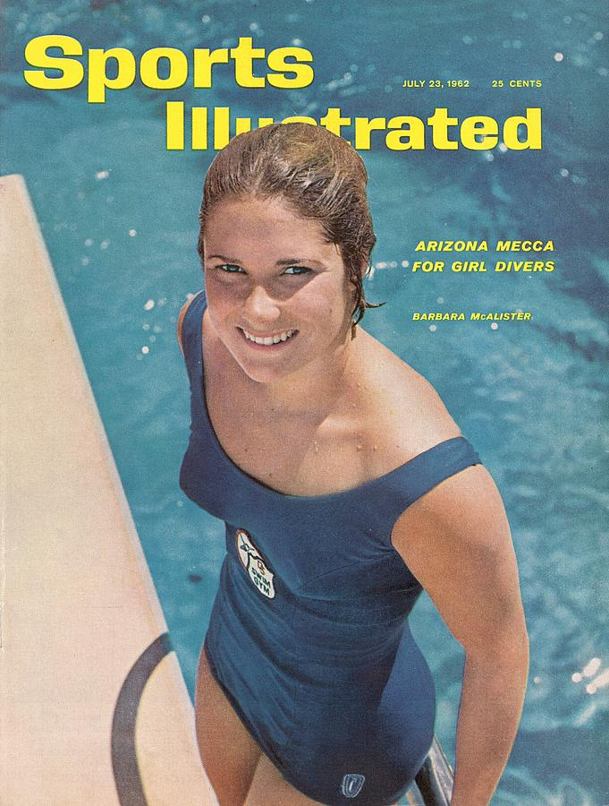Usa Barbara Mcalister, Diving Sports Illustrated Cover Photograph by Sports Illustrated