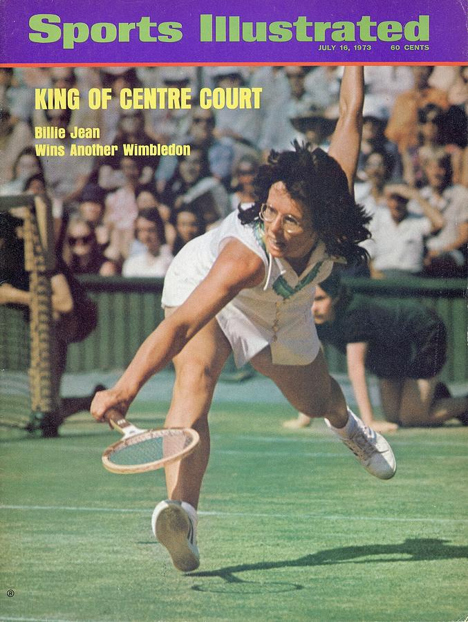Usa Billie Jean King, 1973 Wimbledon Sports Illustrated Cover Photograph by Sports Illustrated