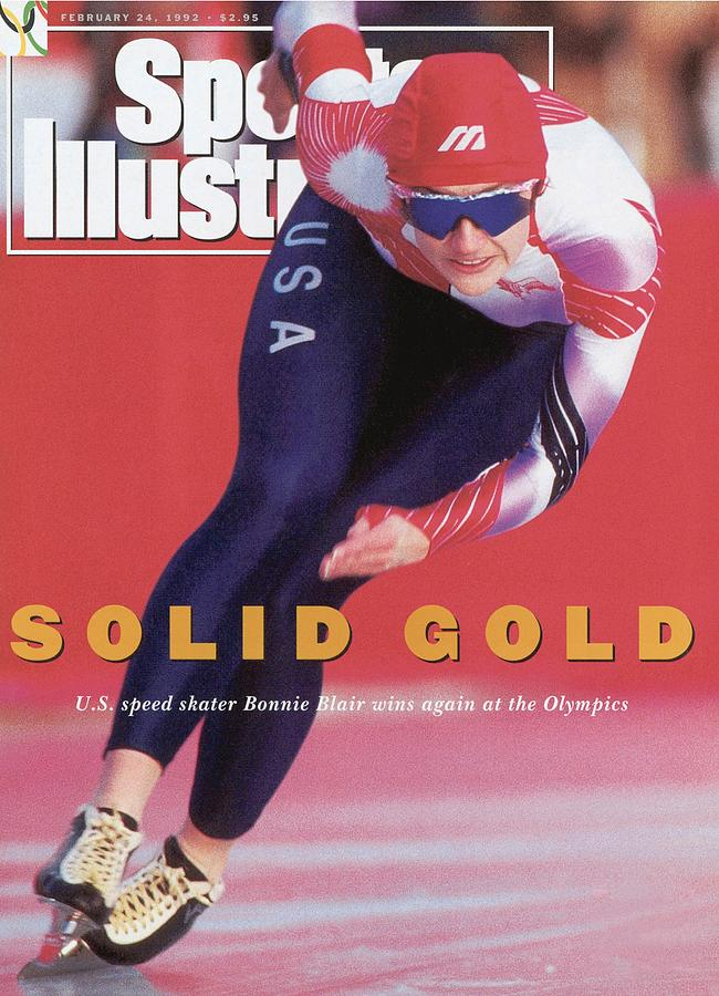 Usa Bonnie Blair, 1992 Winter Olympics Sports Illustrated Cover Photograph by Sports Illustrated
