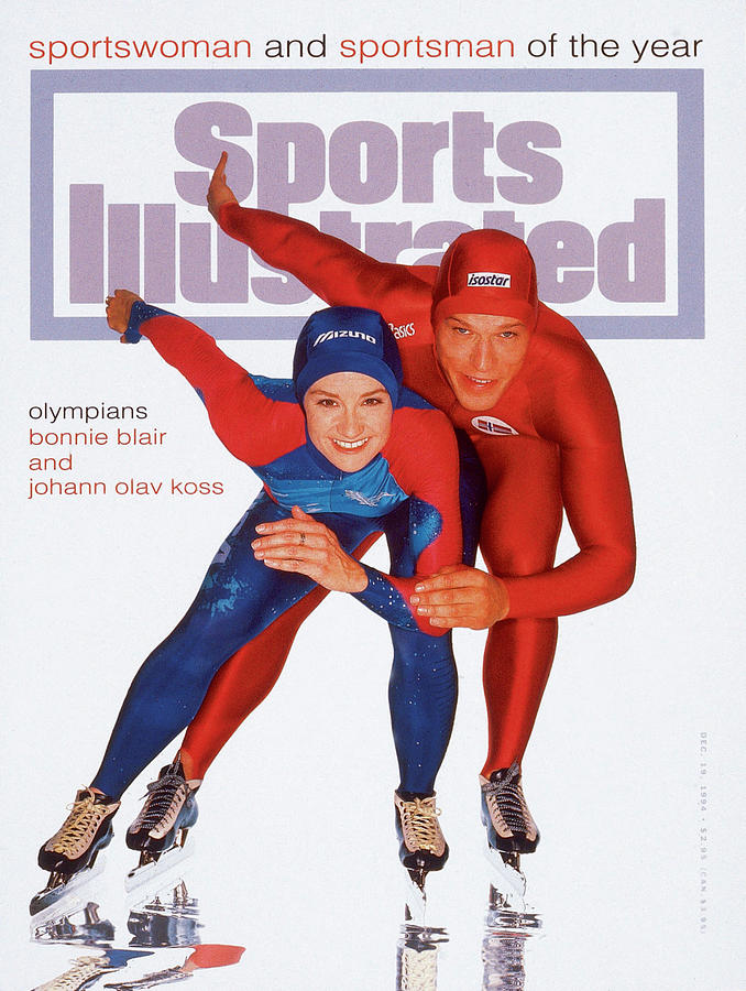 Usa Bonnie Blair And Norway Johann Olav Koss, 1994 Sports Illustrated Cover Photograph by Sports Illustrated