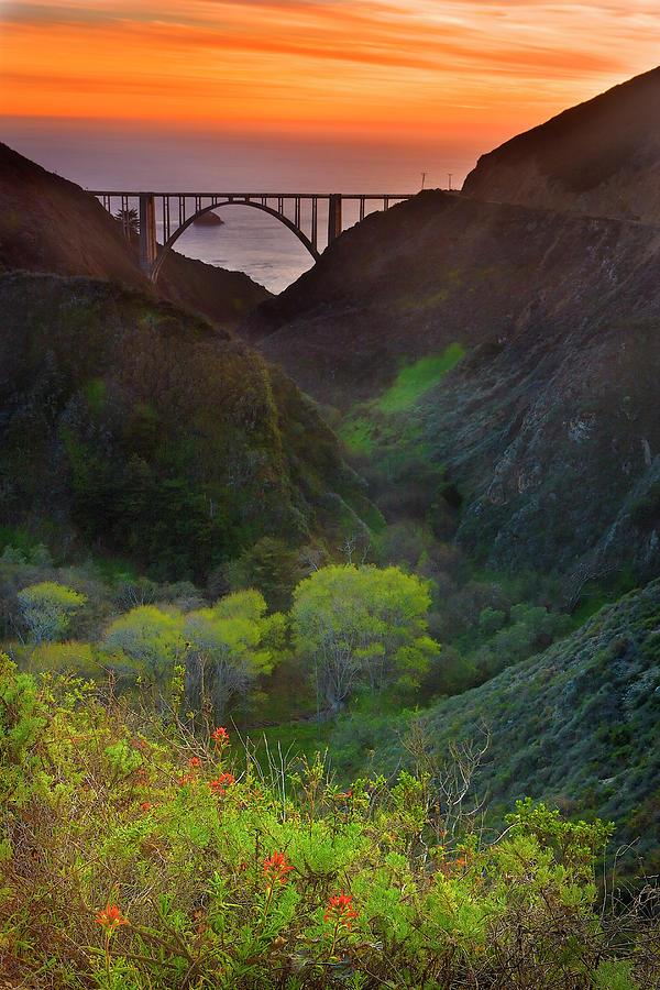 Usa, California, Big Sur, Bixby Bridge Photograph by Don Smith