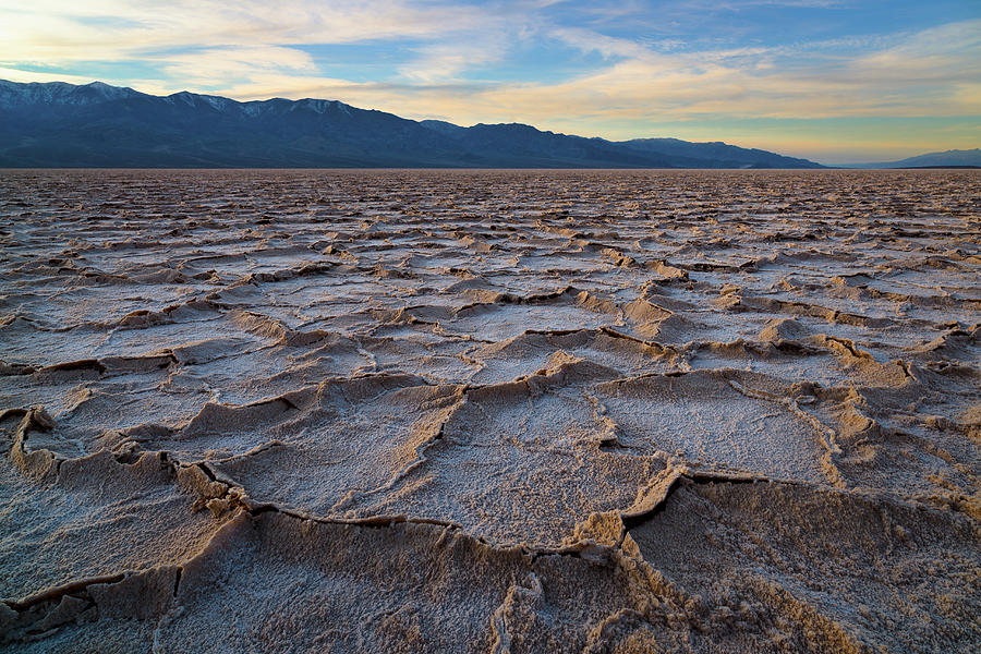 Usa, California, Death Valley, Salt Pan Photograph by Gary Weathers