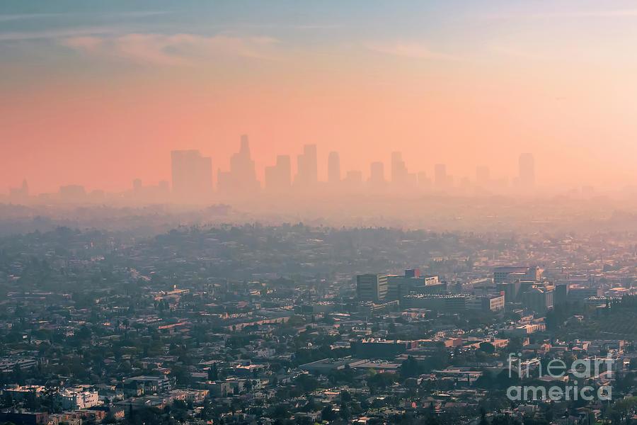 Usa, California, Los Angeles, Smog Photograph by Westend61