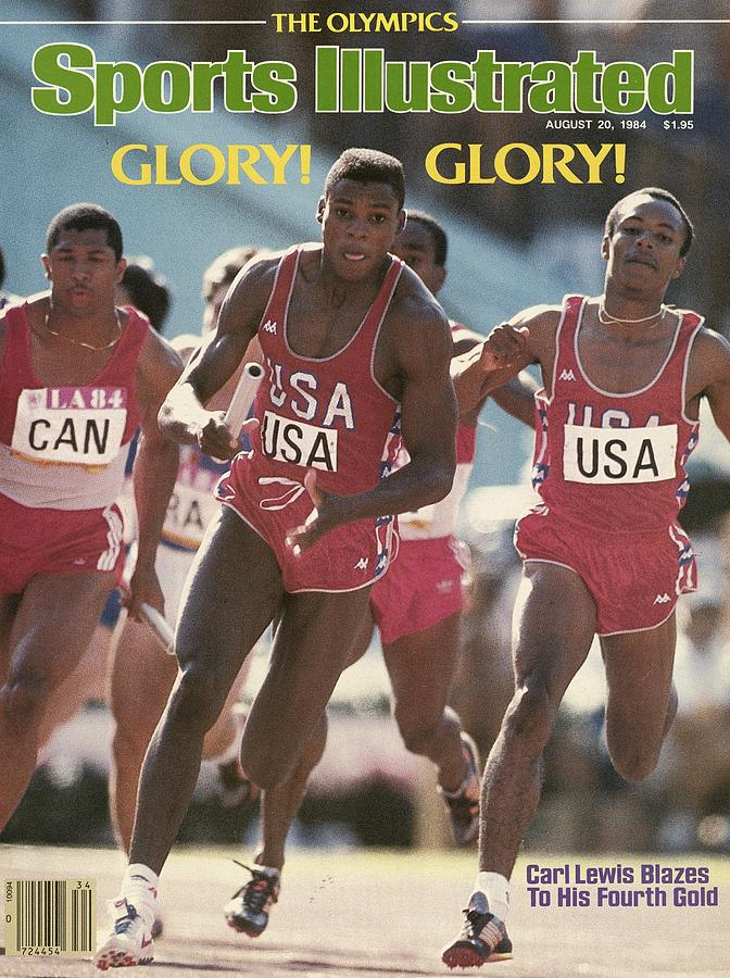 Usa Carl Lewis, 1984 Summer Olympics Sports Illustrated Cover Photograph by Sports Illustrated