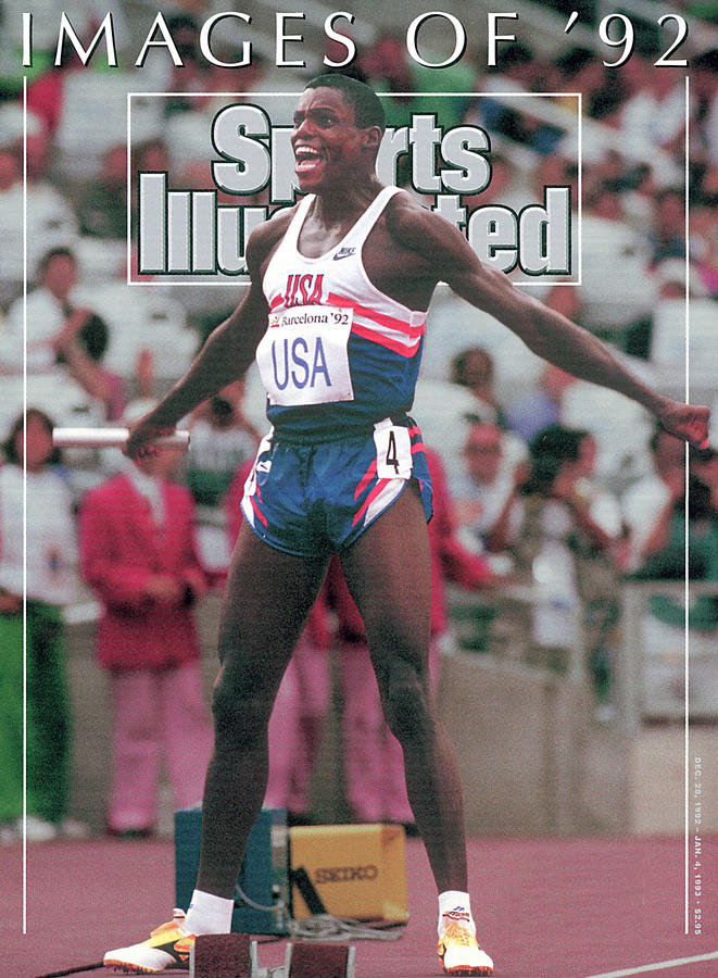 Usa Carl Lewis, 1992 Summer Olympics Sports Illustrated Cover Photograph by Sports Illustrated