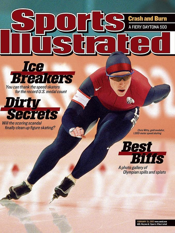 Usa Chris Witty, 2002 Winter Olympics Sports Illustrated Cover Photograph by Sports Illustrated