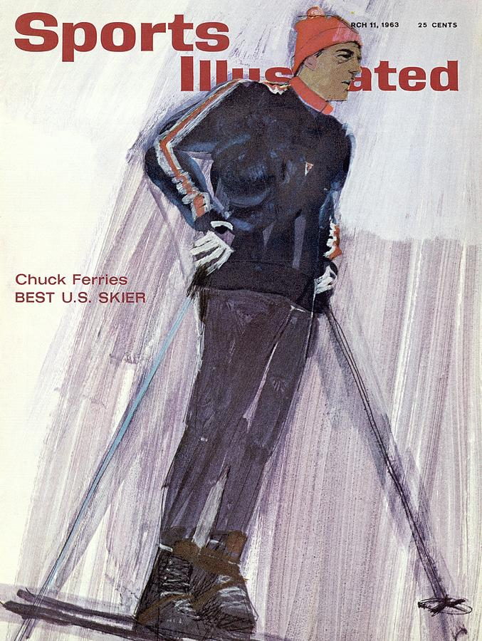 Usa Chuck Ferries, Skiing Sports Illustrated Cover Photograph by Sports Illustrated