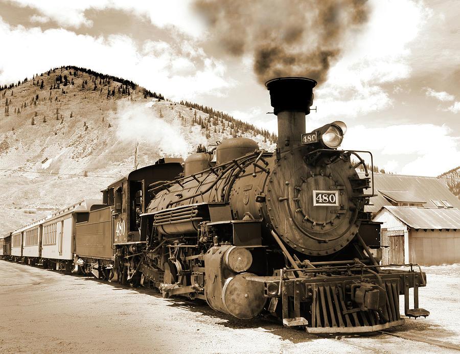 Usa, Colorado, Silverton, 480 Steam Photograph by Images Etc Ltd