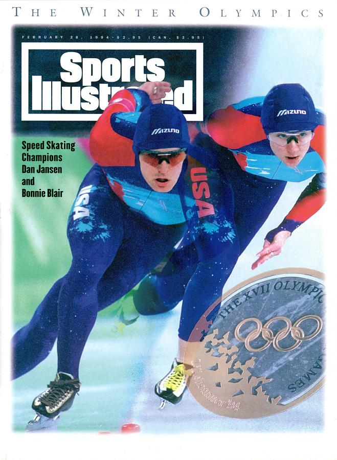 Usa Dan Jansen And Bonnie Blair, 1994 Winter Olympics Sports Illustrated Cover Photograph by Sports Illustrated