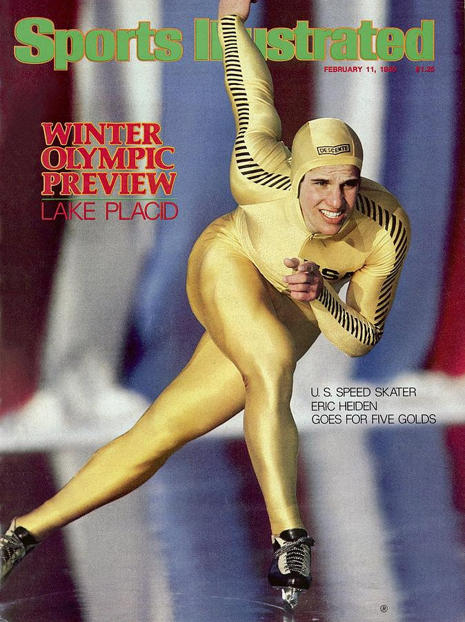 Usa Eric Heiden, 1980 Lake Placid Olympic Games Preview Sports Illustrated Cover Photograph by Sports Illustrated