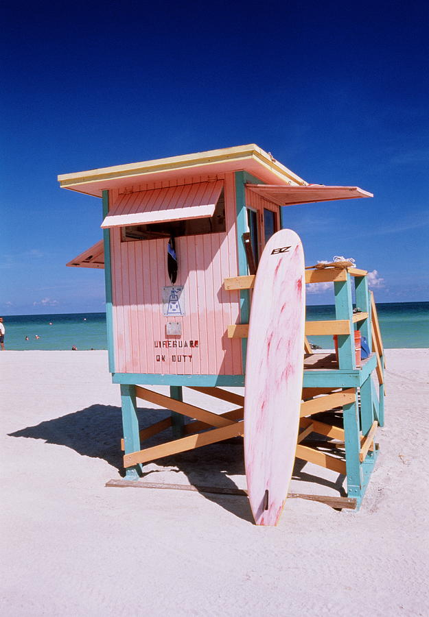 Usa Florida Miami Beach Lifeguard Photograph by Buena Vista Images
