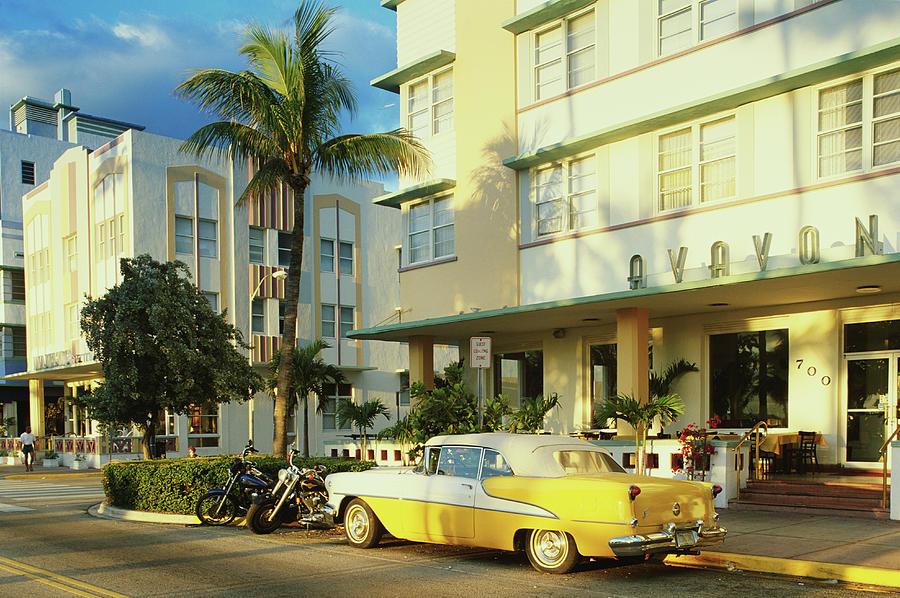 Usa, Florida, Miami, South Beach Street Photograph by Peter Adams