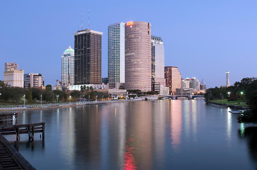 Usa, Florida, Tampa, Buildings Along Photograph by John Coletti
