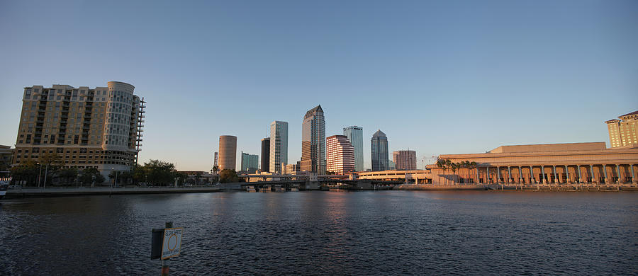 Usa, Florida, Tampa Skyline With Photograph by Guy Vanderelst