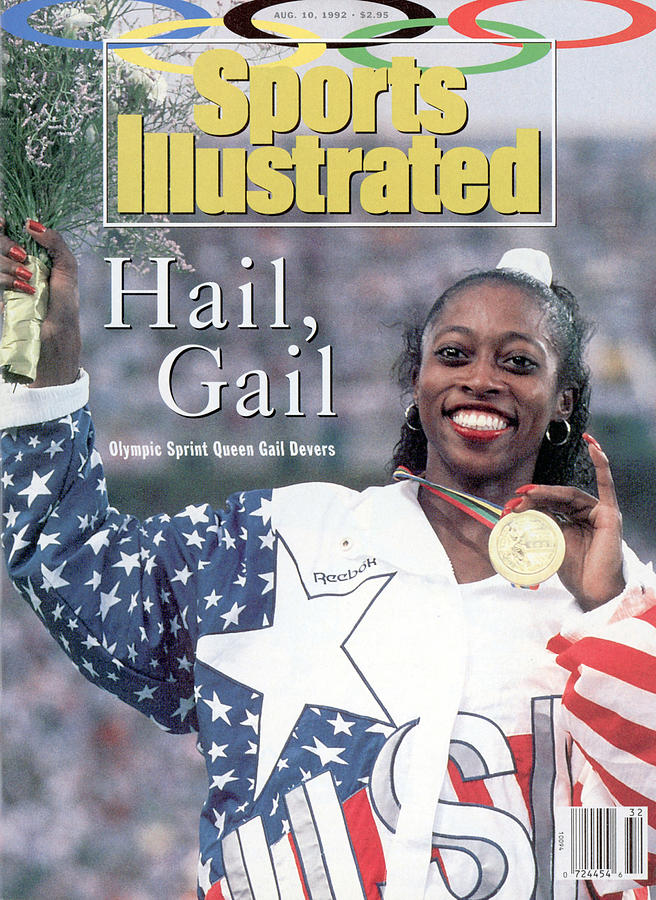 Usa Gail Devers, 1992 Summer Olympics Sports Illustrated Cover Photograph by Sports Illustrated
