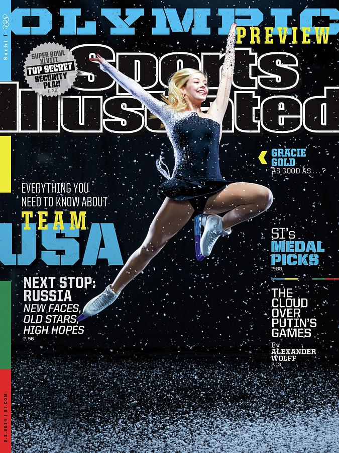 Usa Gracie Gold, 2014 Sochi Olympic Games Preview Issue Sports Illustrated Cover Photograph by Sports Illustrated