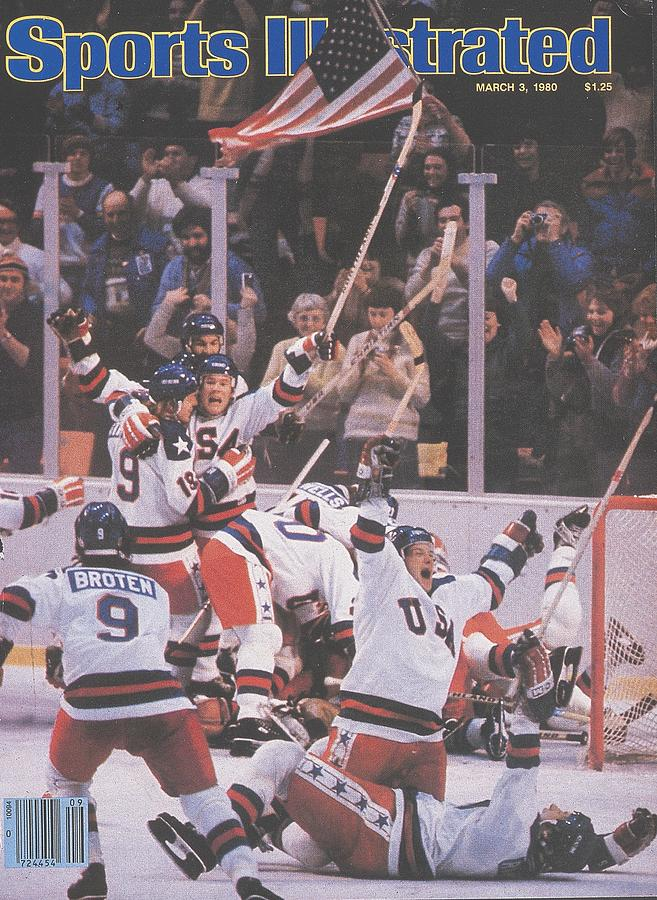 Usa Hockey, 1980 Winter Olympics Sports Illustrated Cover Photograph by Sports Illustrated