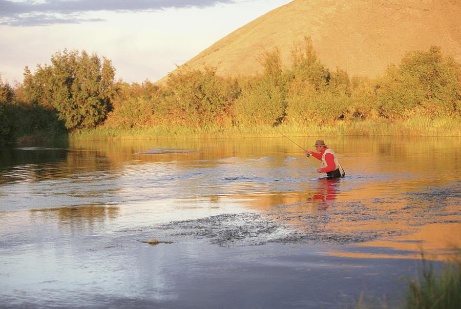 Usa, Idaho, Sun Valley, Silver Creek Photograph by Steve Smith