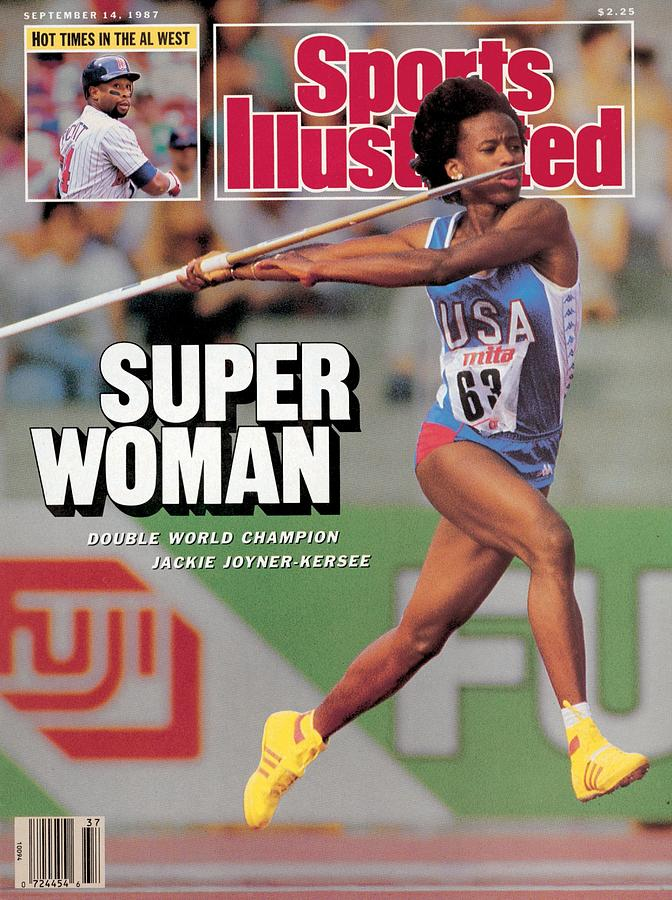 Usa Jackie Joyner-kersee, 1987 Iaaf Athletics World Sports Illustrated Cover Photograph by Sports Illustrated