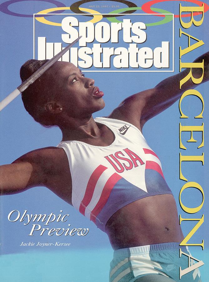 Usa Jackie Joyner-kersee, 1992 Barcelona Olympic Games Sports Illustrated Cover Photograph by Sports Illustrated