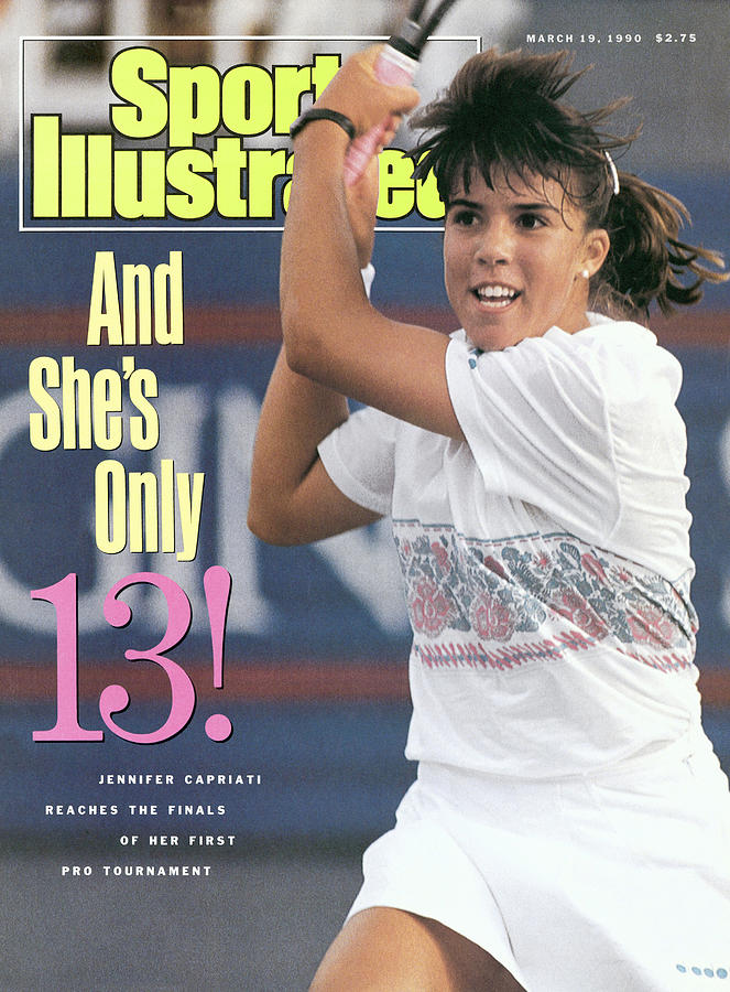Usa Jennifer Capriati, 1990 Virginia Slims Of Florida Sports Illustrated Cover Photograph by Sports Illustrated