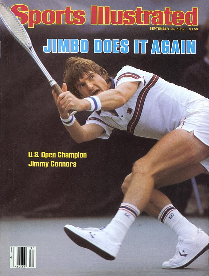 Usa Jimmy Conners, 1982 Us Open Sports Illustrated Cover Photograph by Sports Illustrated