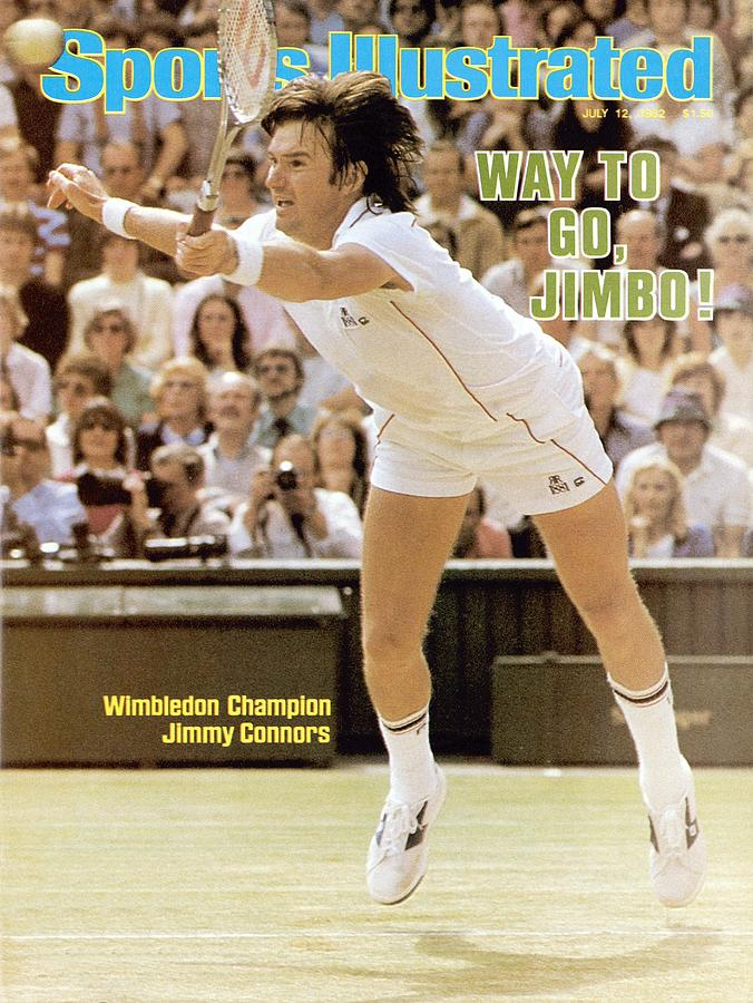 Usa Jimmy Connors, 1982 Wimbledon Sports Illustrated Cover Photograph by Sports Illustrated