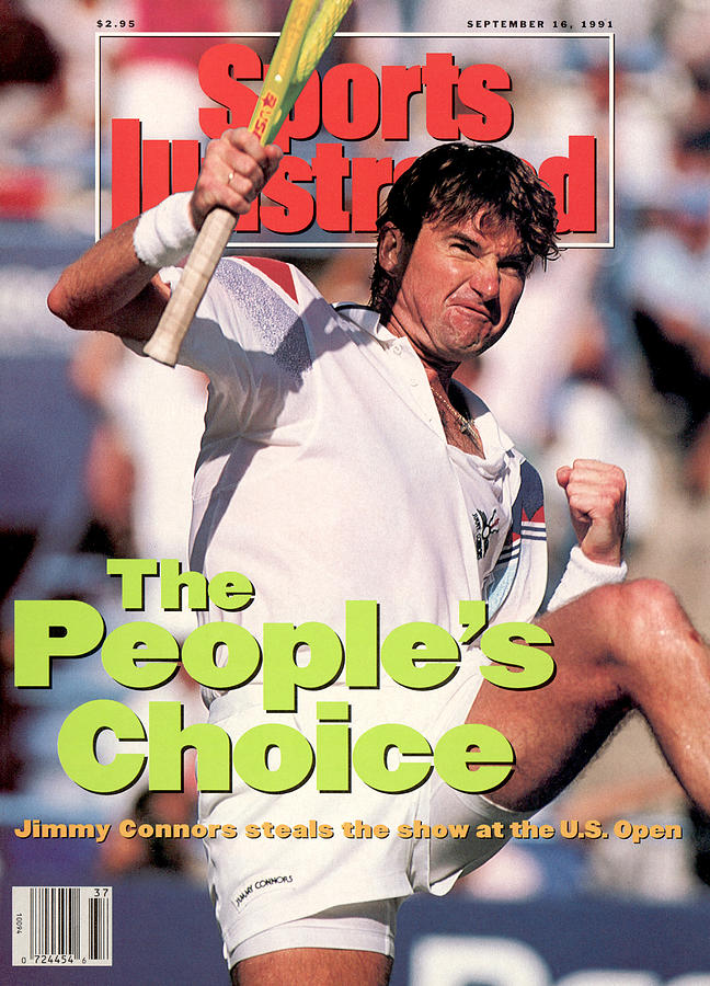 Usa Jimmy Connors, 1991 Us Open Sports Illustrated Cover Photograph by Sports Illustrated